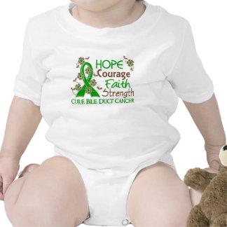 Hope Courage Faith Strength 3 Bile Duct Cancer Tee Shirts