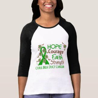 Hope Courage Faith Strength 3 Bile Duct Cancer Shirt