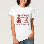 Hope Courage Faith Strength 3 Brain Aneurysms Shirt