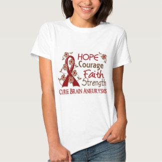 Hope Courage Faith Strength 3 Brain Aneurysms T-Shirt