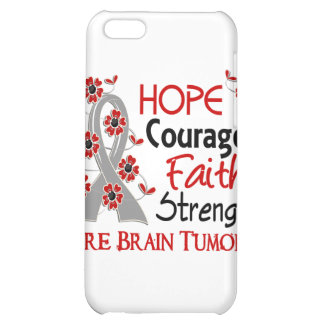 Hope Courage Faith Strength 3 Brain Tumors iPhone 5C Covers