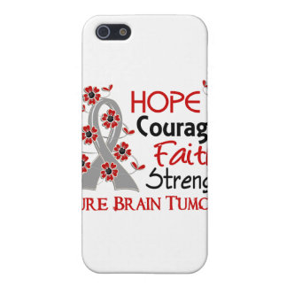Hope Courage Faith Strength 3 Brain Tumors Cover For iPhone 5