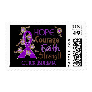 Hope Courage Faith Strength 3 Bulimia Stamps