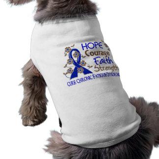 Hope Courage Faith Strength 3 CFS Dog Tee Shirt