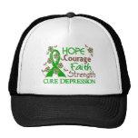 Hope Courage Faith Strength 3 Depression Trucker Hat