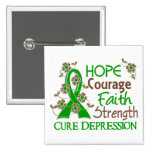 Hope Courage Faith Strength 3 Depression Pins