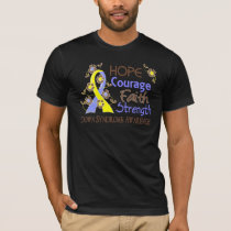 Hope Courage Faith Strength 3 Down Syndrome T-Shirt