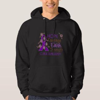 Hope Courage Faith Strength 3 Epilepsy Sweatshirts