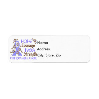 Hope Courage Faith Strength 3 Esophageal Cancer Label