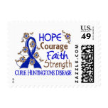 Hope Courage Faith Strength 3 Huntington's Disease Postage