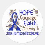 Hope Courage Faith Strength 3 Huntington's Disease Sticker