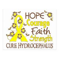 Hope Courage Faith Strength 3 Hydrocephalus Postcard