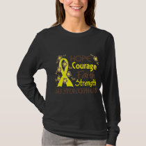 Hope Courage Faith Strength 3 Hydrocephalus T-Shirt