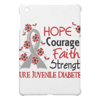 Hope Courage Faith Strength 3 Juvenile Diabetes iPad Mini Cover