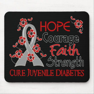Hope Courage Faith Strength 3 Juvenile Diabetes Mouse Pad