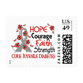 Hope Courage Faith Strength 3 Juvenile Diabetes Postage