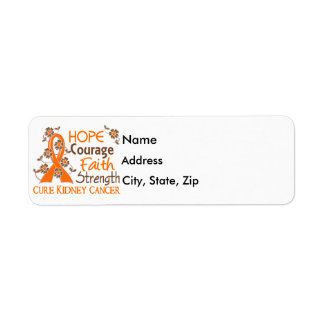 Hope Courage Faith Strength 3 Kidney Cancer Label