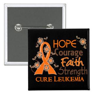 Hope Courage Faith Strength 3 Leukemia Pins
