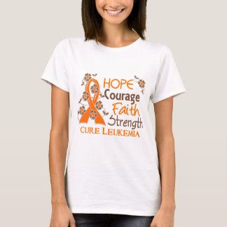 Hope Courage Faith Strength 3 Leukemia T-Shirt
