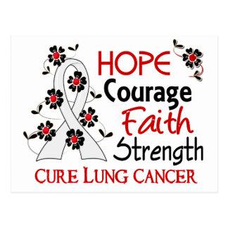 Hope Courage Faith Strength 3 Lung Cancer Postcard