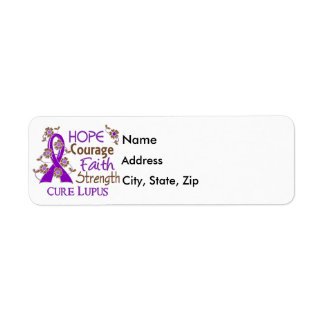 Hope Courage Faith Strength 3 Lupus Label