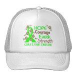 Hope Courage Faith Strength 3 Lyme Disease Trucker Hat