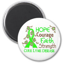Hope Courage Faith Strength 3 Lyme Disease Magnet