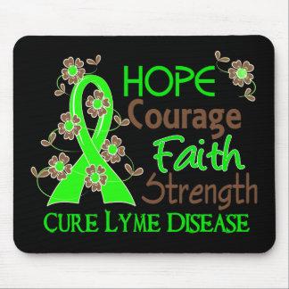 Hope Courage Faith Strength 3 Lyme Disease Mouse Pad