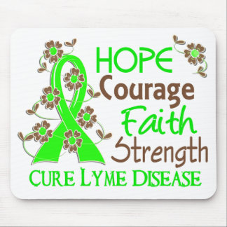 Hope Courage Faith Strength 3 Lyme Disease Mouse Pad