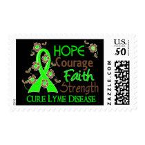 Hope Courage Faith Strength 3 Lyme Disease Postage