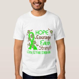 Hope Courage Faith Strength 3 Lyme Disease T-Shirt