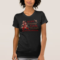 Hope Courage Faith Strength 3 Multiple Myeloma T-Shirt