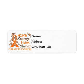 Hope Courage Faith Strength 3 Multiple Sclerosis Label