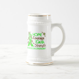Hope Courage Faith Strength 3 Muscular Dystrophy Mugs