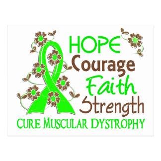 Hope Courage Faith Strength 3 Muscular Dystrophy Postcard