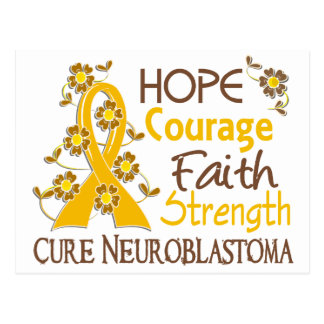 Hope Courage Faith Strength 3 Neuroblastoma Postcard