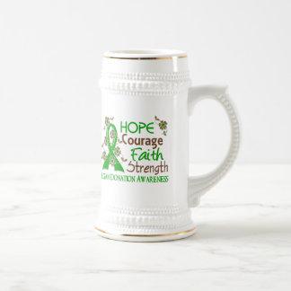 Hope Courage Faith Strength 3 Organ Donation Mug