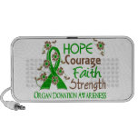 Hope Courage Faith Strength 3 Organ Donation Laptop Speaker