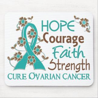 Hope Courage Faith Strength 3 Ovarian Cancer Mousepad