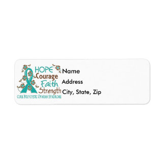 Hope Courage Faith Strength 3 PCOS Label