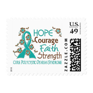 Hope Courage Faith Strength 3 PCOS Stamp