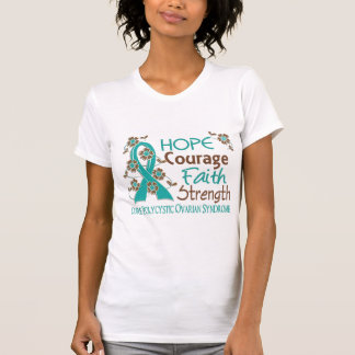 Hope Courage Faith Strength 3 PCOS T Shirt