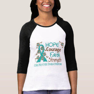 Hope Courage Faith Strength 3 PCOS T Shirts