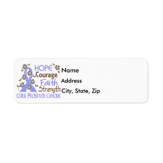 Hope Courage Faith Strength 3 Prostate Cancer Label