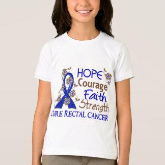 Hope Courage Faith Strength 3 Rectal Cancer T-Shirt