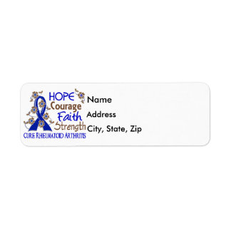 Hope Courage Faith Strength 3 Rheumatoid Arthritis Label