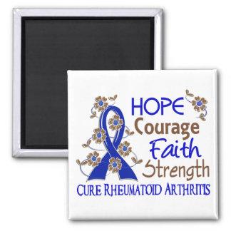 Hope Courage Faith Strength 3 Rheumatoid Arthritis Magnet