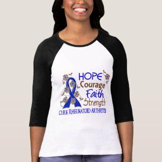 Hope Courage Faith Strength 3 Rheumatoid Arthritis T-Shirt