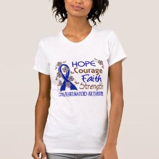 Hope Courage Faith Strength 3 Rheumatoid Arthritis Tshirt