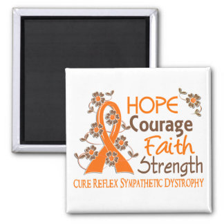 Hope Courage Faith Strength 3 RSD 2 Inch Square Magnet